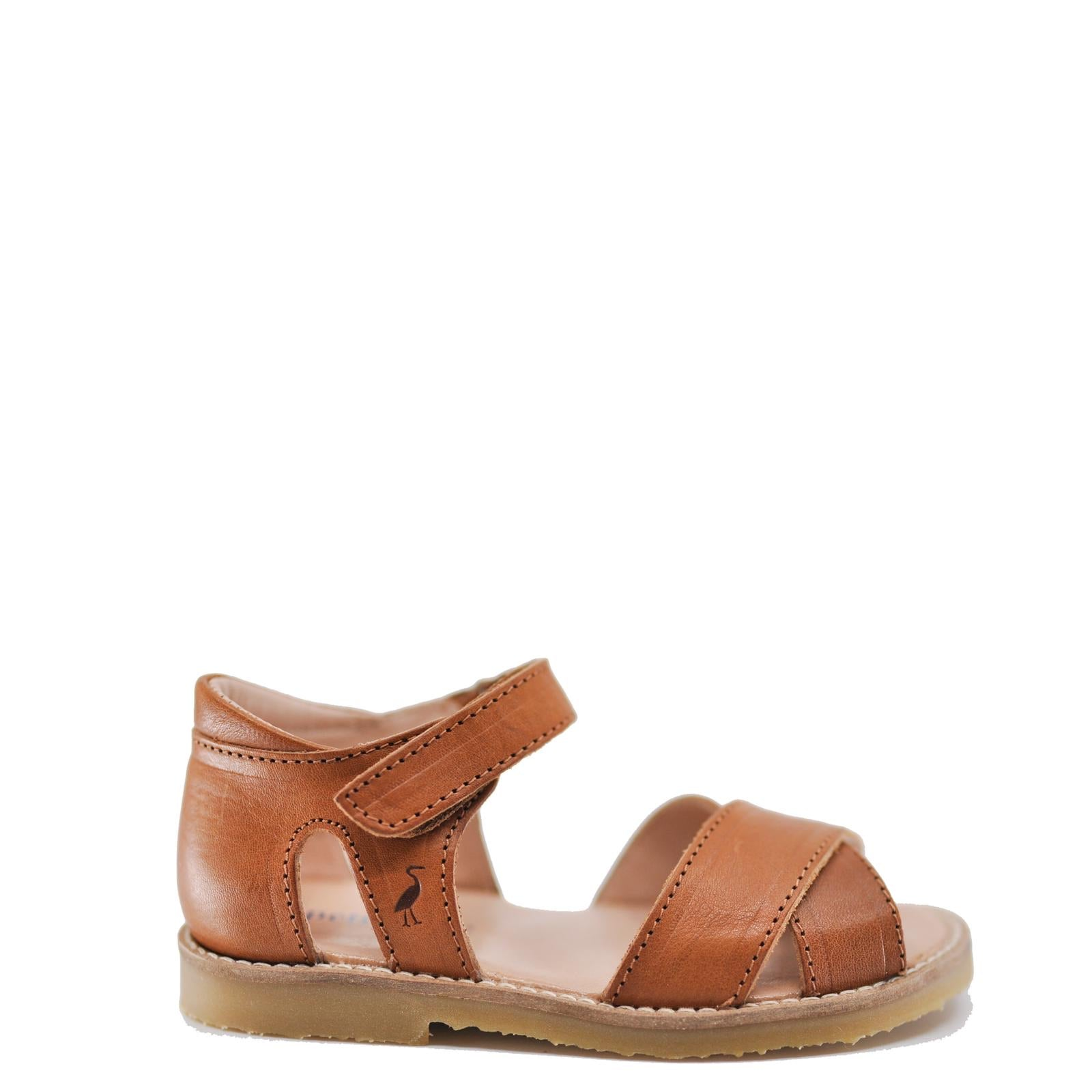 Petit Nord Cognac Criss Cross Sandal-Tassel Children Shoes