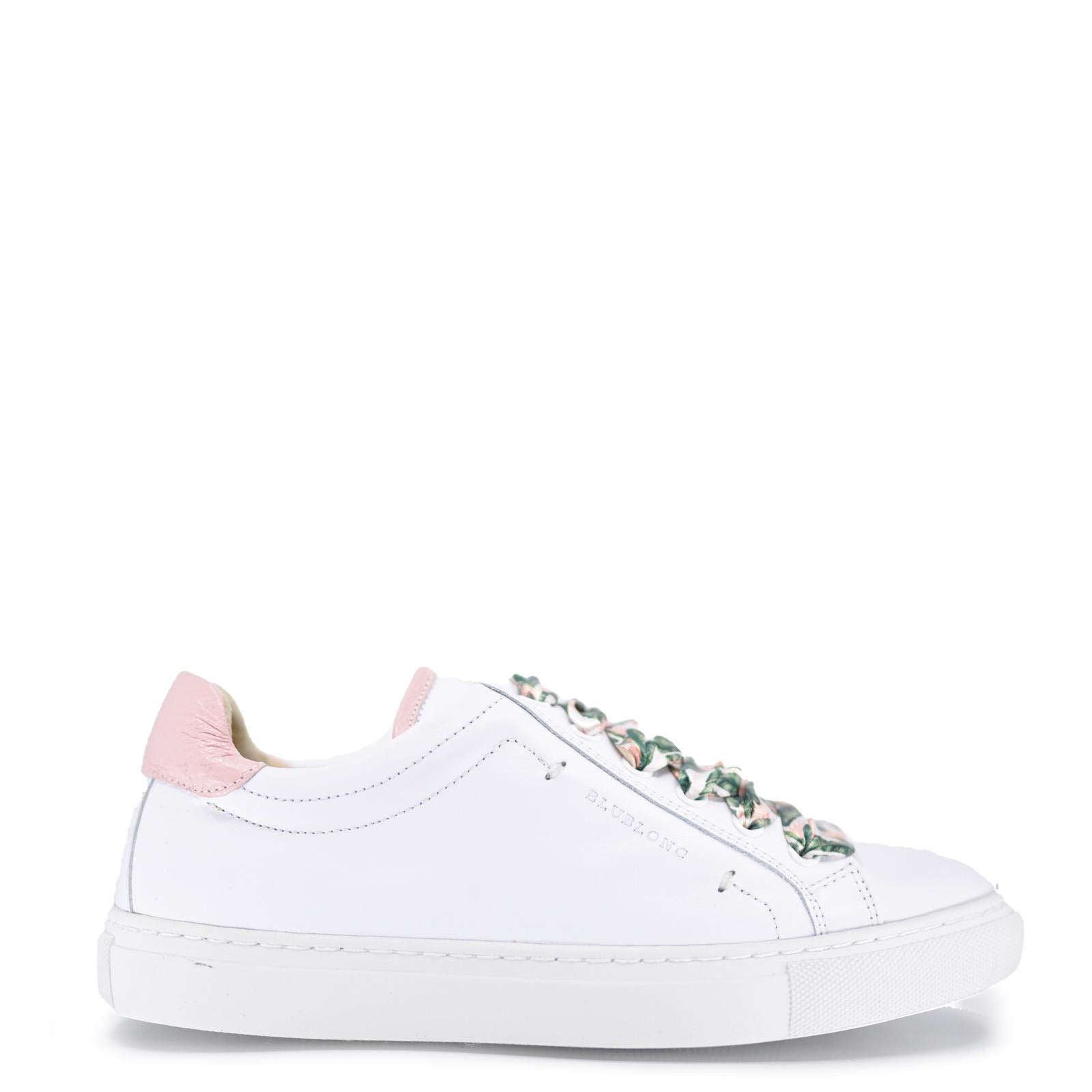 Blublonc White Floral Lace Sneaker-Tassel Children Shoes