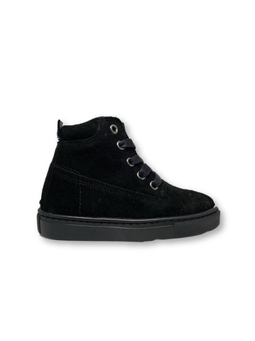 Atlanta Mocassin Black Suede High Top Sneaker-Tassel Children Shoes