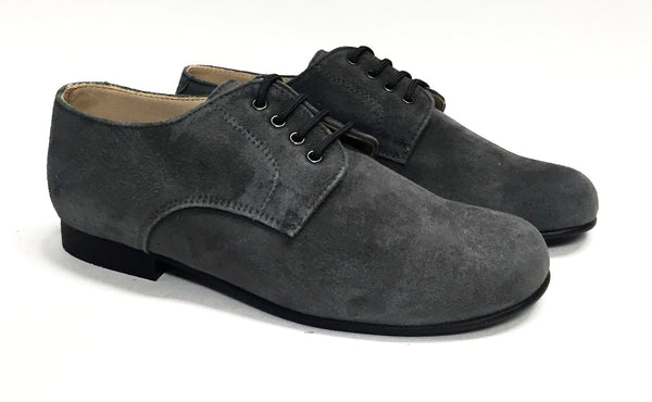 Beberlis Gray Suede Oxford-Tassel Children Shoes