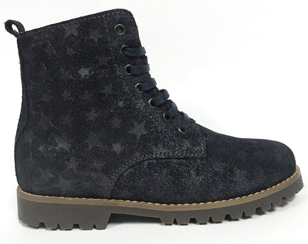 Beberlis Navy Star Boot-Tassel Children Shoes