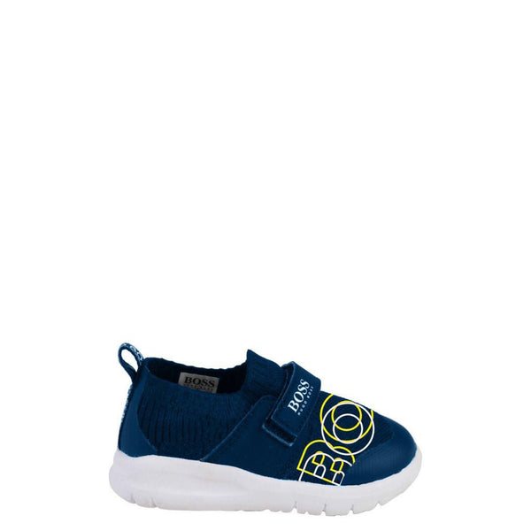 Hugo Boss Navy Gauze Velcro Sneaker-Tassel Children Shoes
