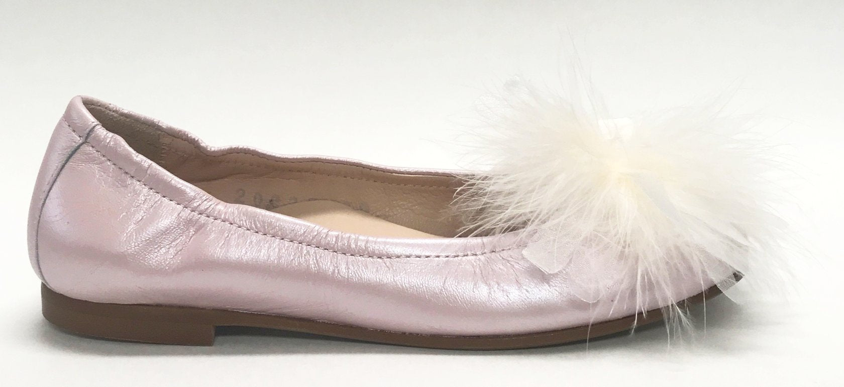 Beberlis Pink Feather Ballet Flat-Tassel Children Shoes