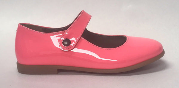 Pepe Neon Pink Mary Jane-Tassel Children Shoes