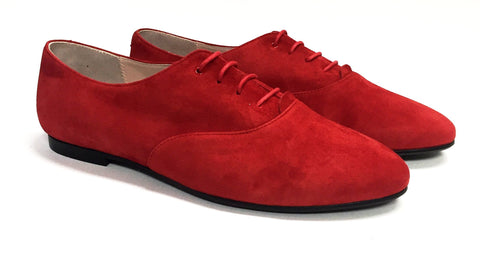 Beberlis Red Suede Oxford-Tassel Children Shoes