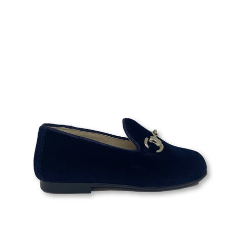 Hoo Navy Velvet Chain Smoking Shoe-Tassel Children Shoes
