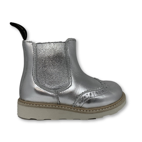 Young Soles Silver Leather Boot-Tassel Children Shoes