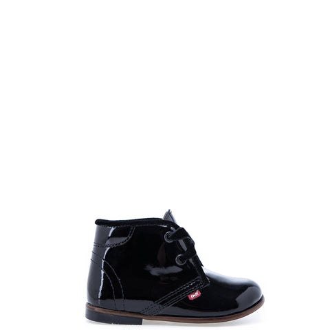 Emel Black Patent Leather Bootie-Tassel Children Shoes