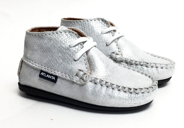 Atlanta Mocassin Silver Bootie-Tassel Children Shoes