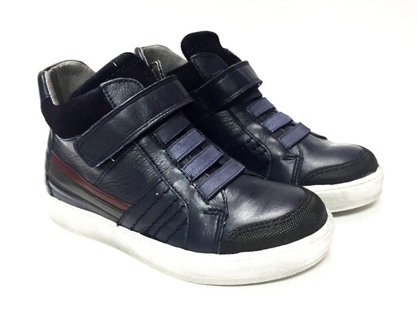 Blublonc Navy Velcro High-top-Tassel Children Shoes