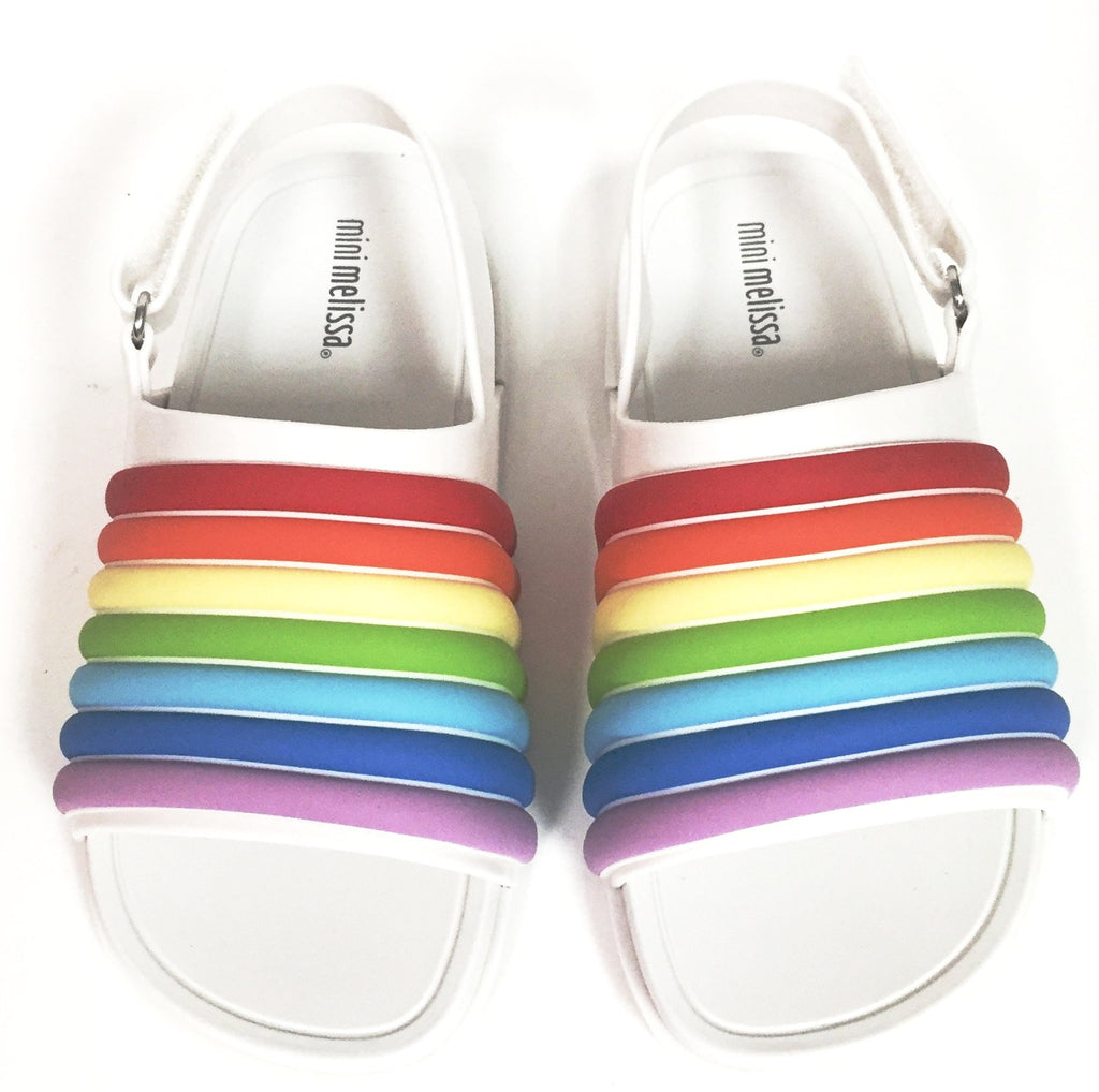 a821c2bab164 ... Mini Melissa Rainbow Beach Slide-Tassel Children Shoes ...
