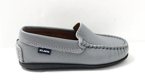 Atlanta Mocassin Stone Gray Loafer-Tassel Children Shoes