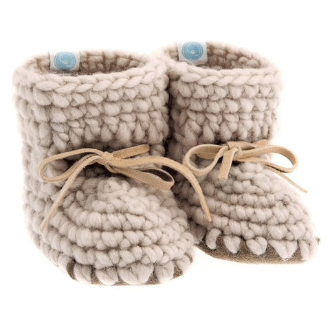 Beba Bean Oatmeal Sweater Bootie-Tassel Children Shoes