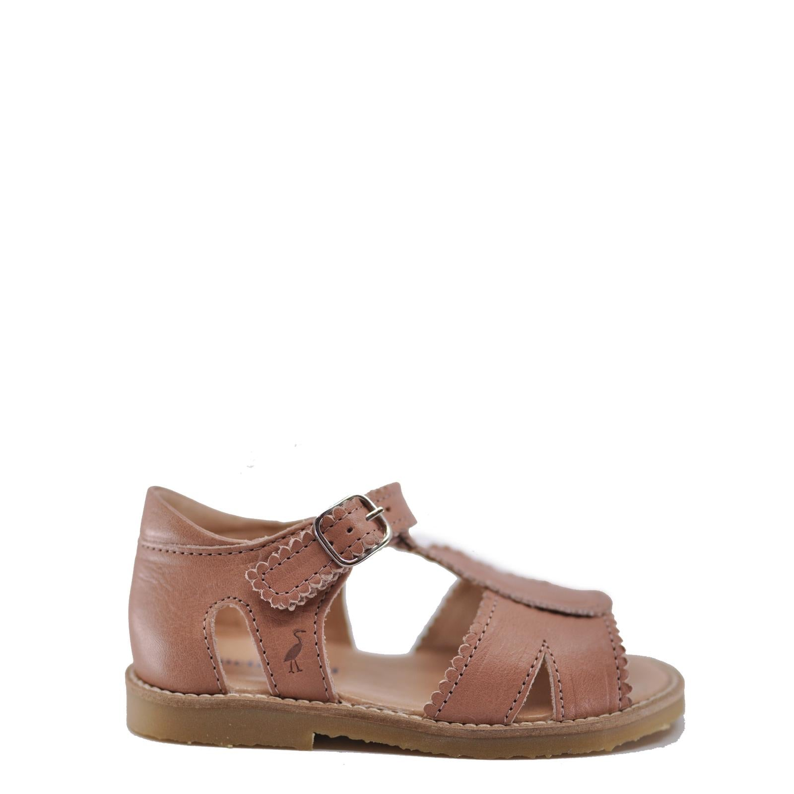 Petit Nord Rose Scalloped T-Strap Sandal-Tassel Children Shoes