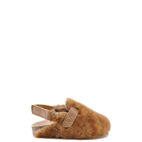 Pepe Luggage Fur Clog-Tassel Children Shoes