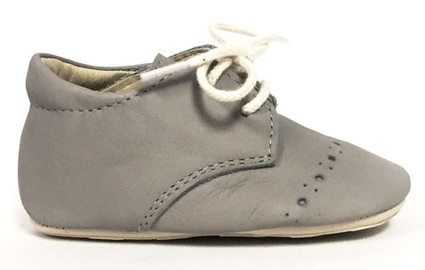 Young Soles Dove Grey Leather Baby Shoe-Tassel Children Shoes
