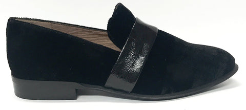 Marian Black Velvet Loafer-Tassel Children Shoes