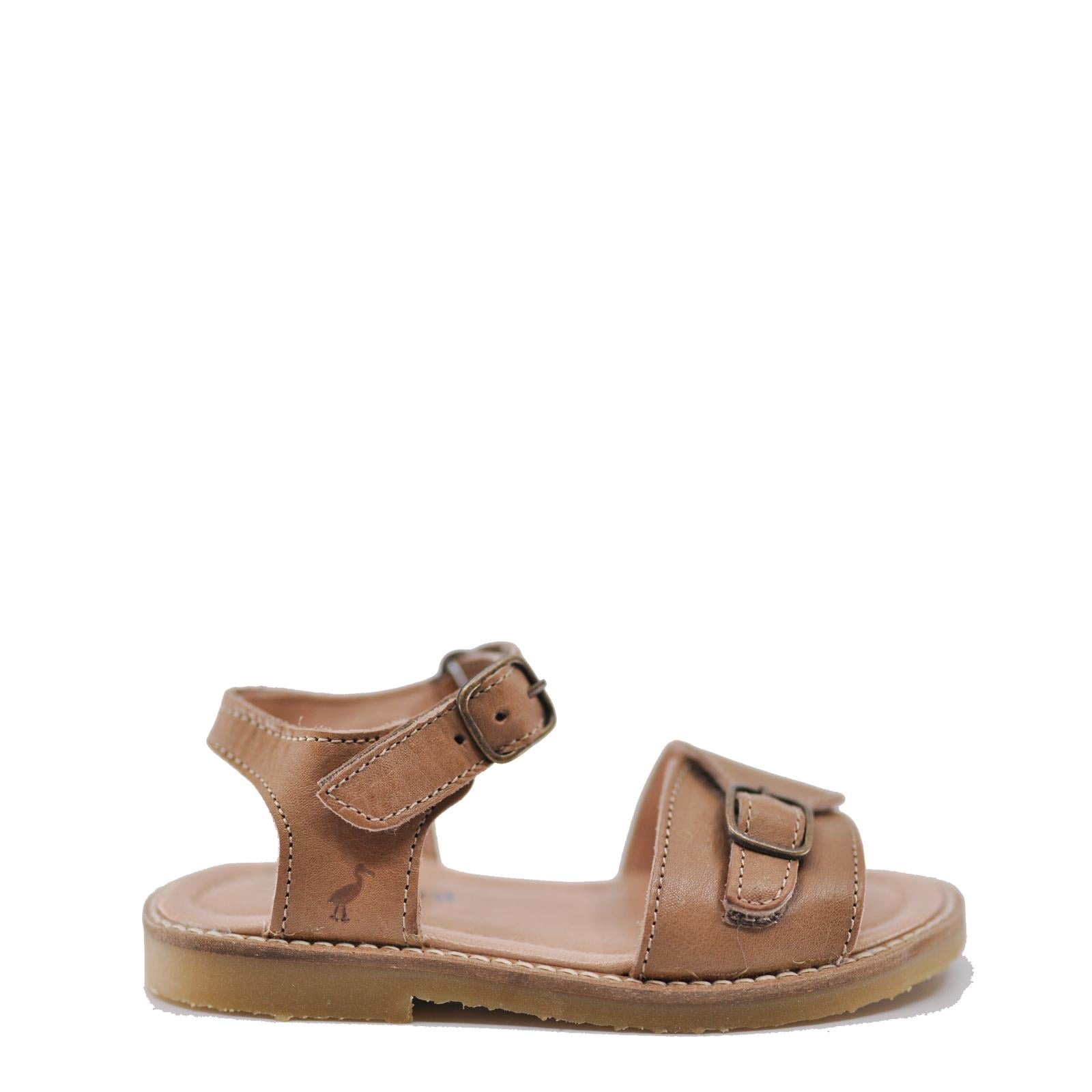 Petit Nord Latte Velcro Sandal-Tassel Children Shoes