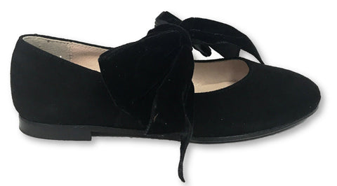 Beberlis Black bow shoe-Tassel Children Shoes