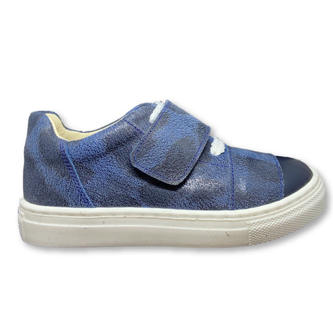 Sonatina Blue Spotted Sneaker-Tassel Children Shoes