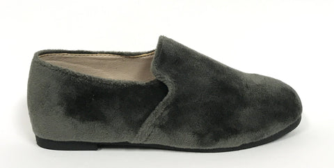 Zeebra Grey Velvet Loafer-Tassel Children Shoes