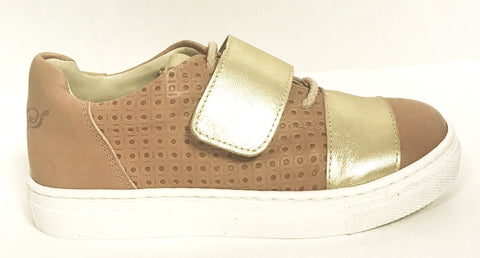 Sonatina Gold/Tan Sneaker-Tassel Children Shoes