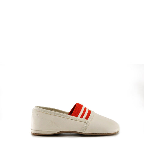 Pepe Beige/Red Stripe Elastic Slipper-Tassel Children Shoes