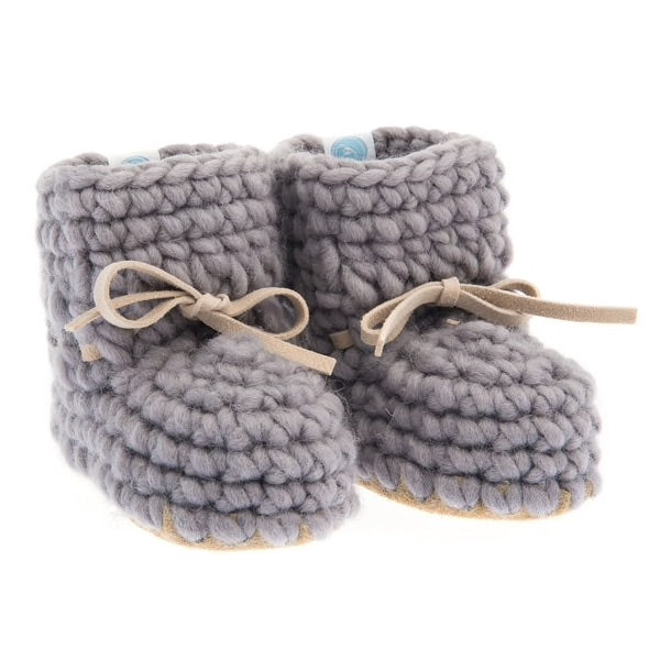 Beba Bean Gray Sweater Bootie-Tassel Children Shoes