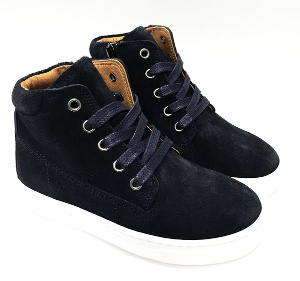 Atlanta Mocassin Navy Lace Bootie-Tassel Children Shoes