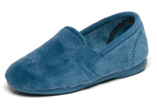 Cienta Blue Velour Slipper-Tassel Children Shoes