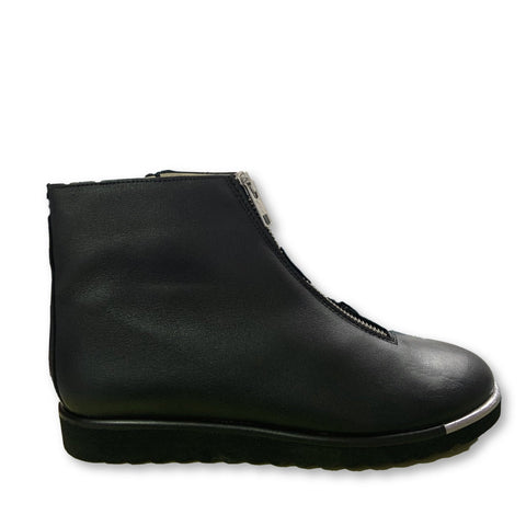Hoo Black Zipper Boot-Tassel Children Shoes