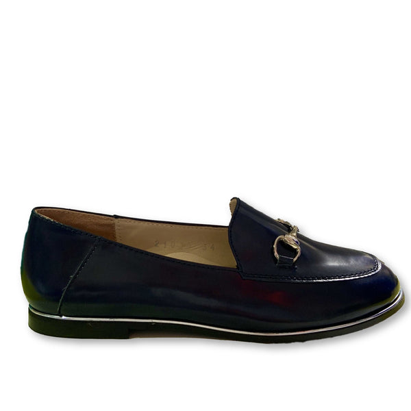 Beberlis Dark Blue Florentic Loafer-Tassel Children Shoes