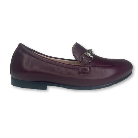 Beberlis Burgundy Florentic Chain Loafer-Tassel Children Shoes
