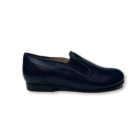 Beberlis Navy Leather Wingback Slip-on Shoe-Tassel Children Shoes