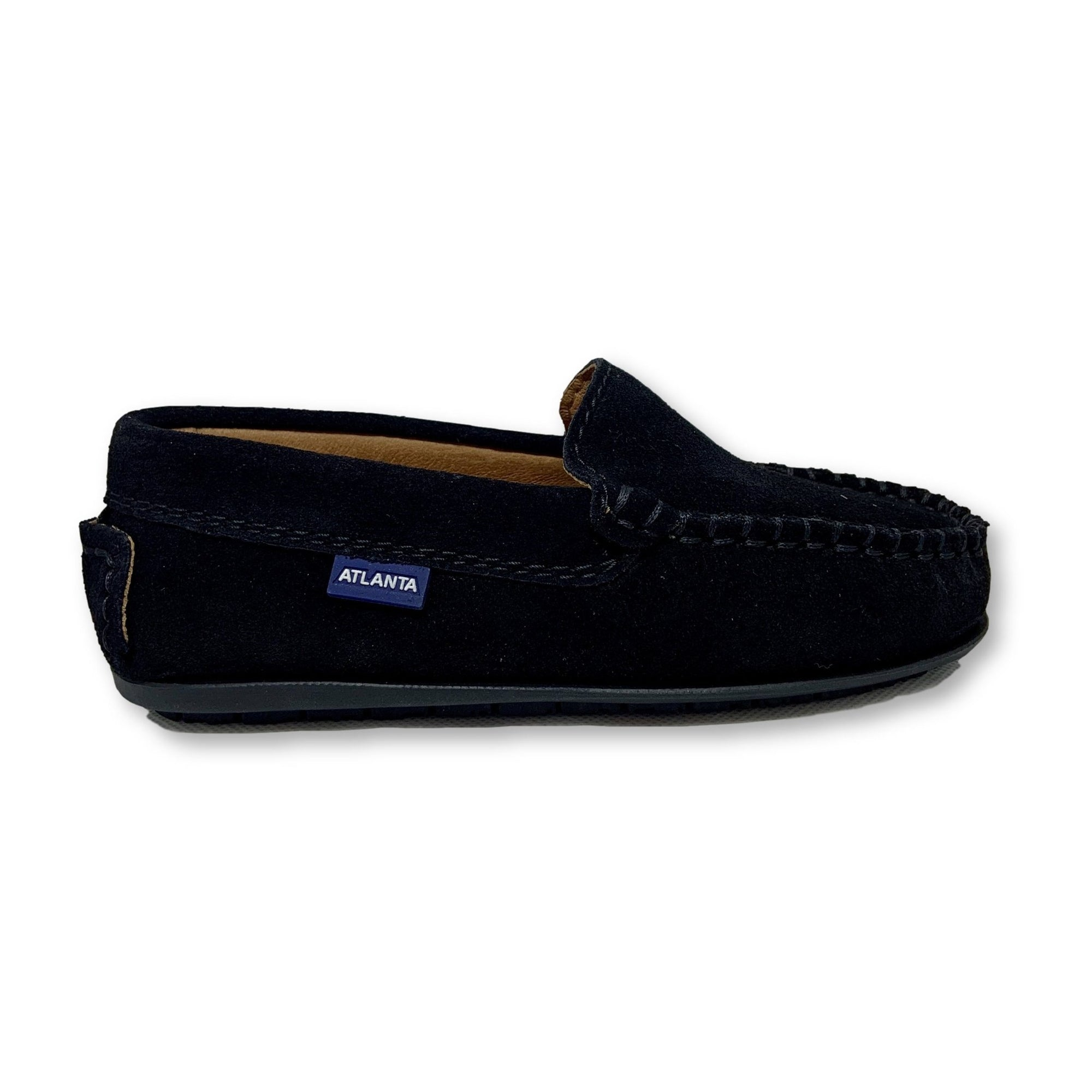 Atlanta Mocassin Black Suede Loafer-Tassel Children Shoes
