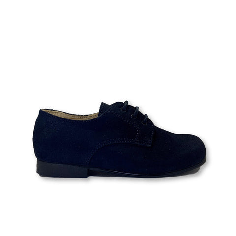 Beberlis Navy Suede Lace Oxford-Tassel Children Shoes