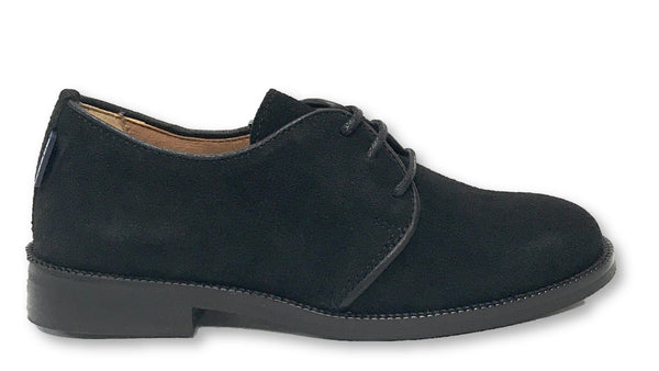 Atlanta Mocassin Black Suede Oxford-Tassel Children Shoes