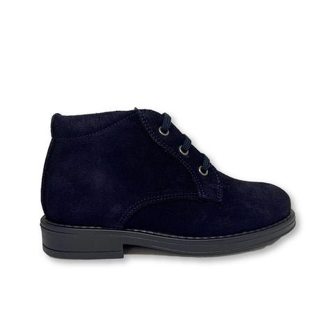 Blublonc Navy Suede Lace Bootie-Tassel Children Shoes