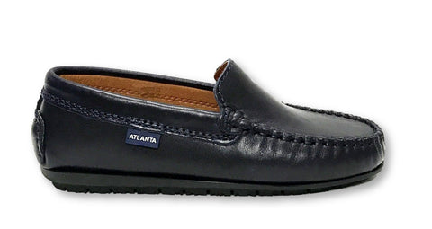 Atlanta Mocassin Navy Blue Loafer-Tassel Children Shoes