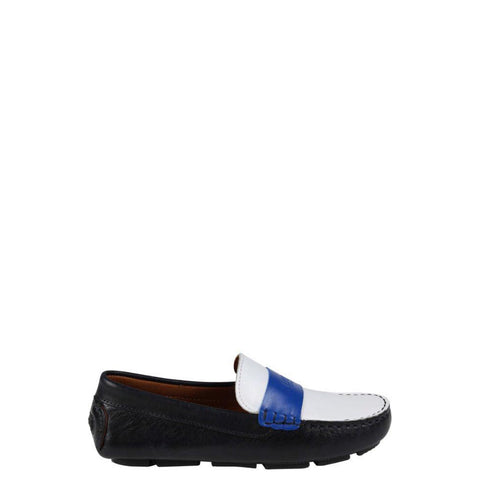 Hugo Boss Three-Tone Navy Loafer-Tassel Children Shoes