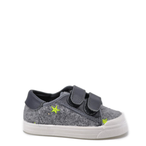 Pepe Gray Wool Star Velcro Sneaker-Tassel Children Shoes