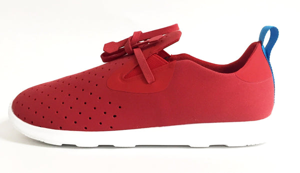 Native Shoes Apollo Moc Torch Red (Junior)-Tassel Children Shoes