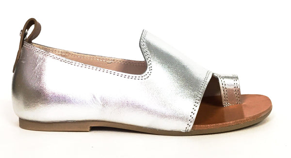Manuela Silver Open-toe Sandal-Tassel Children Shoes