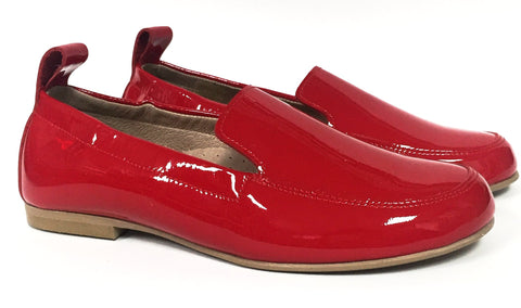 Hoo Red Patent Elastic Loafer-Tassel Children Shoes