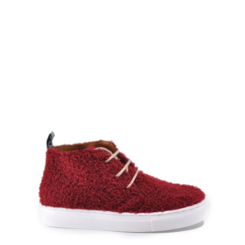 Atlanta Mocassin Red Shearling Sneaker Bootie-Tassel Children Shoes
