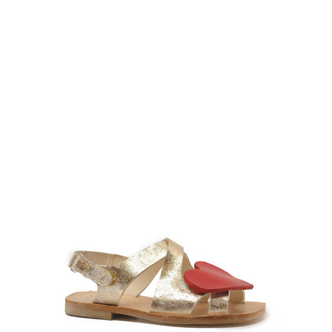 Sonatina Gold Sandal with Red Heart-Tassel Children Shoes