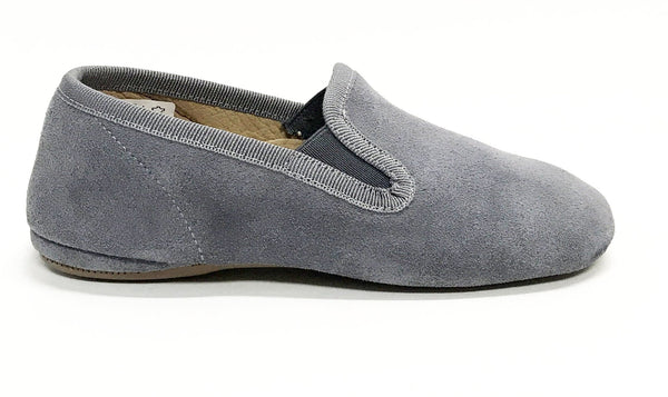 Pepe Gray Suede Slipper-Tassel Children Shoes