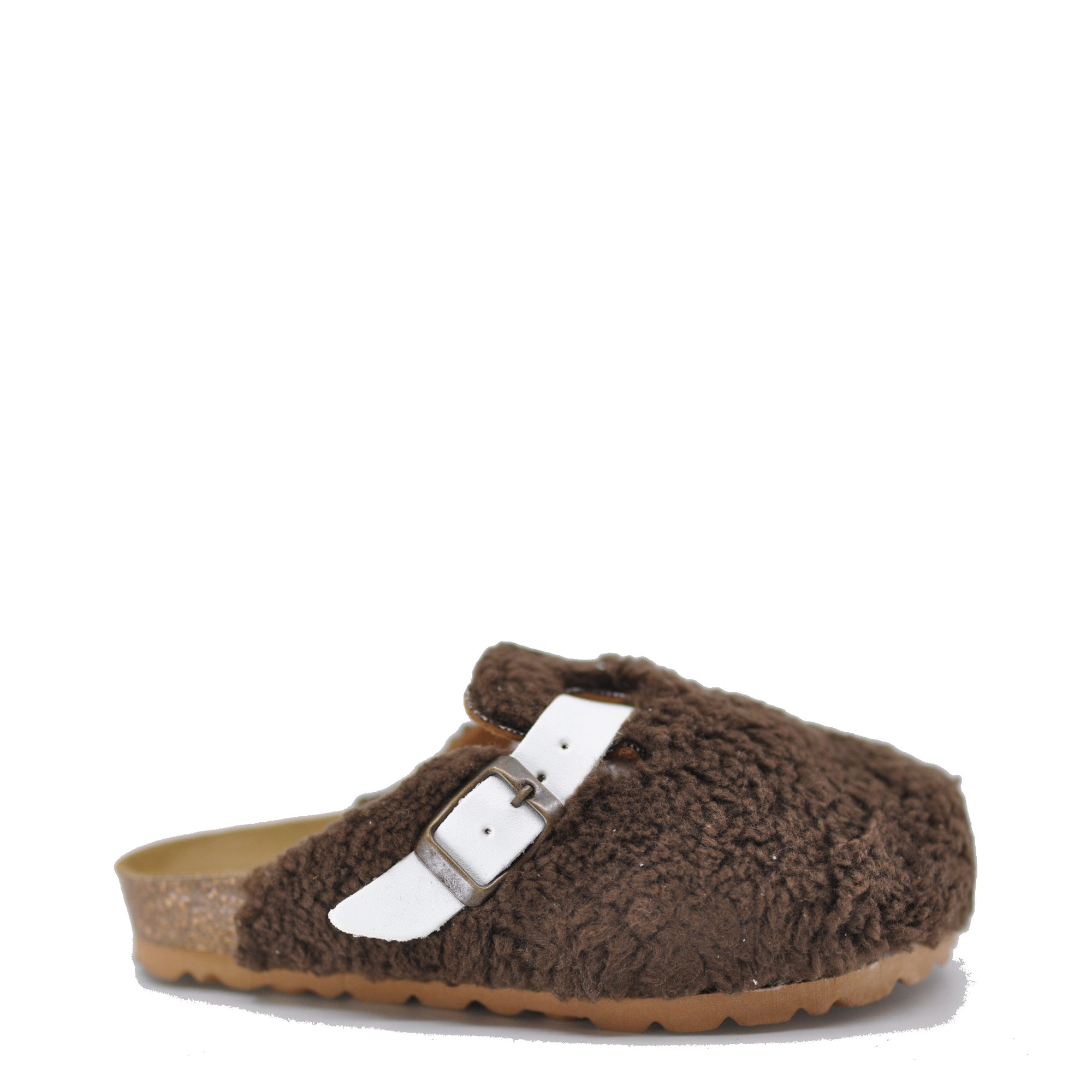 LMDI Brown Fur Clog-Tassel Children Shoes