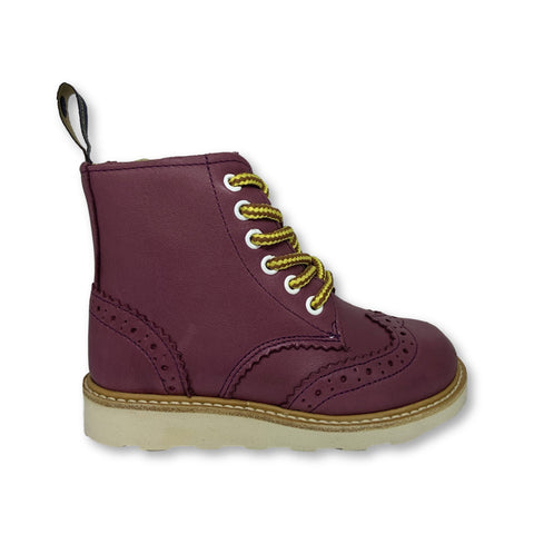 Young Soles Burgundy Boot-Tassel Children Shoes