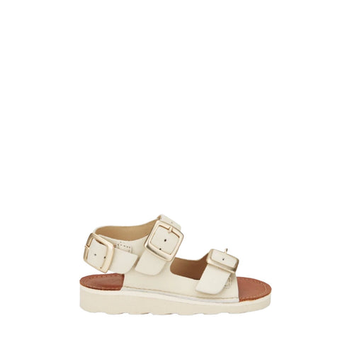 Young Soles Vanilla Buckle Sandal-Tassel Children Shoes